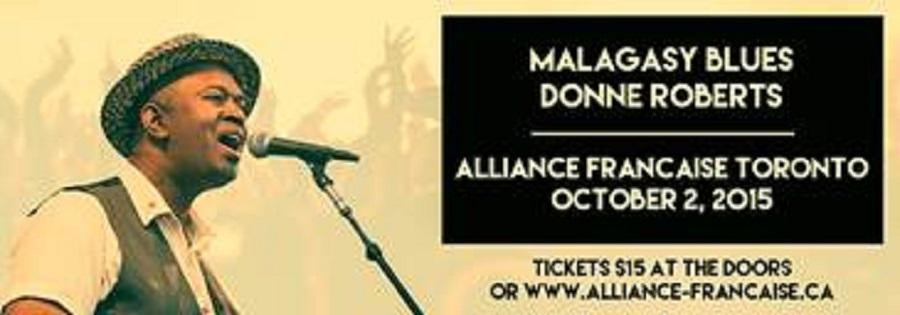 L'Alliance française de Toronto vous invite  au concert de Donné Roberts