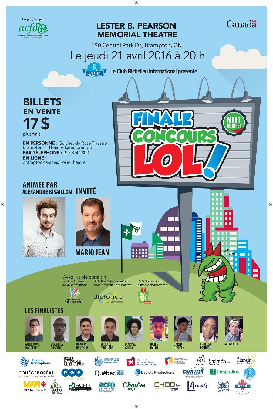 Affiche-Finale Concours LOL Brampton