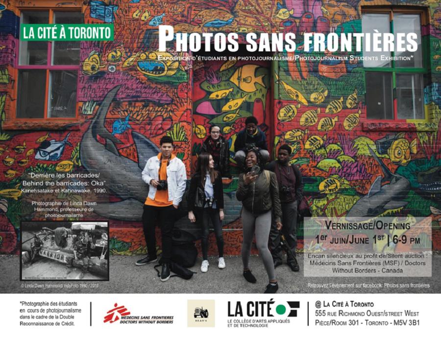 Exposition présentant les travaux des étudiants de La Cité