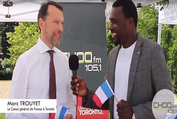 Marc Trouyet, Consul général de France à Toronto interviewé par Duvalier Monkam, bénévole à la radio CHOQfm, 105,1.