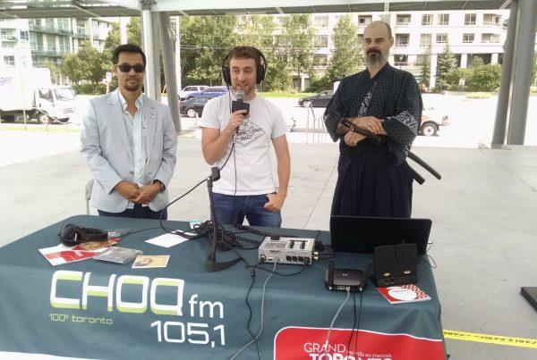 L'équipe de CHOQ FM 105.1 au festival culturel japonsais en 2017.