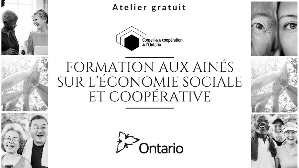 Formation gratuite pour les aînés sur l'économie sociale
