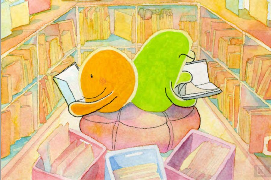 Cette illustration est tirée d'un des trois contes du COPA intitulé Une sortie à l'aquarium. © 2014 COPA
