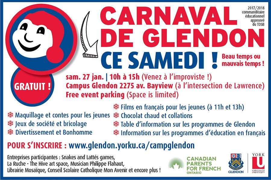 Carnaval de Glendon: un rendez-vous exceptionnel pour toute la famille
