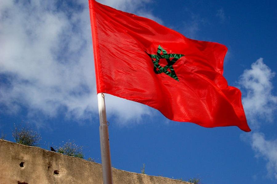 Commémoration de l'indépendance du Maroc: cérémonie de levée officielle du drapeau marocain