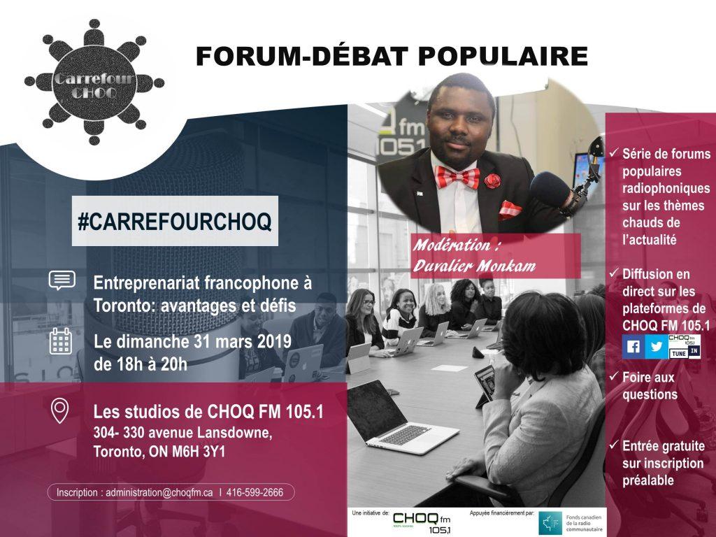 Forum-débat sur l'entreprenariat francophone à Toronto