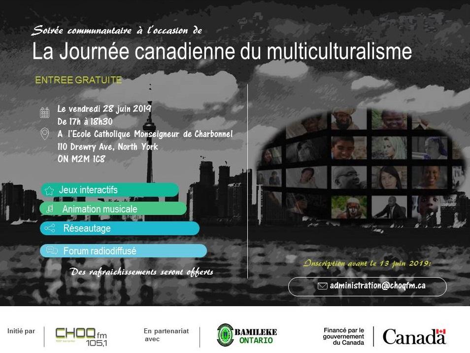 Soirée communautaire à l'occasion de la Journée canadienne du multiculturalisme