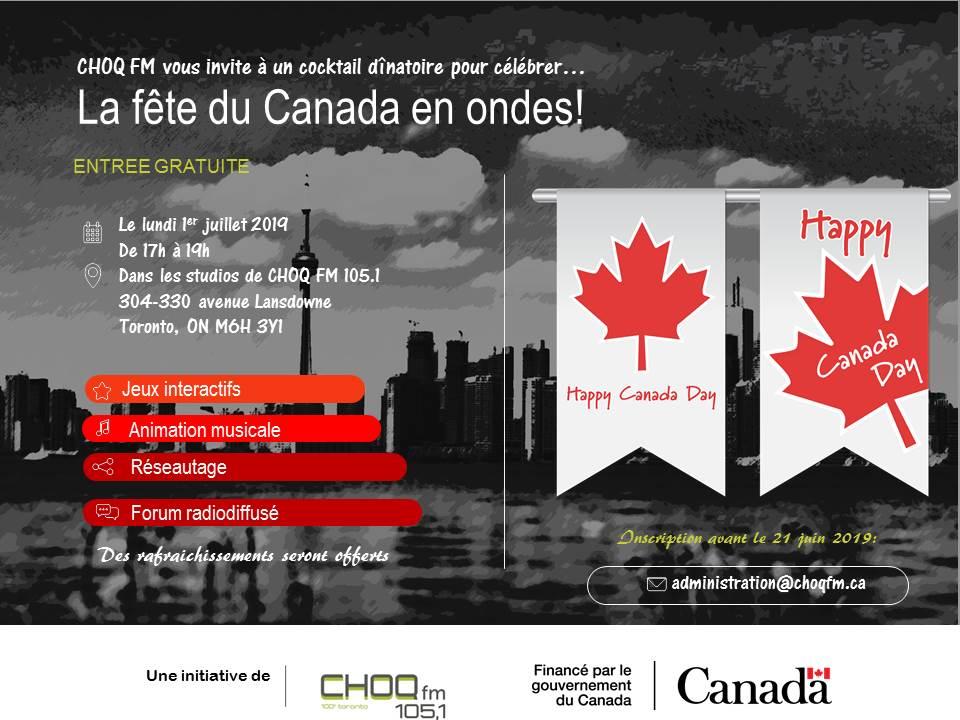 5 à 7 à l'occasion de la Fête du Canada