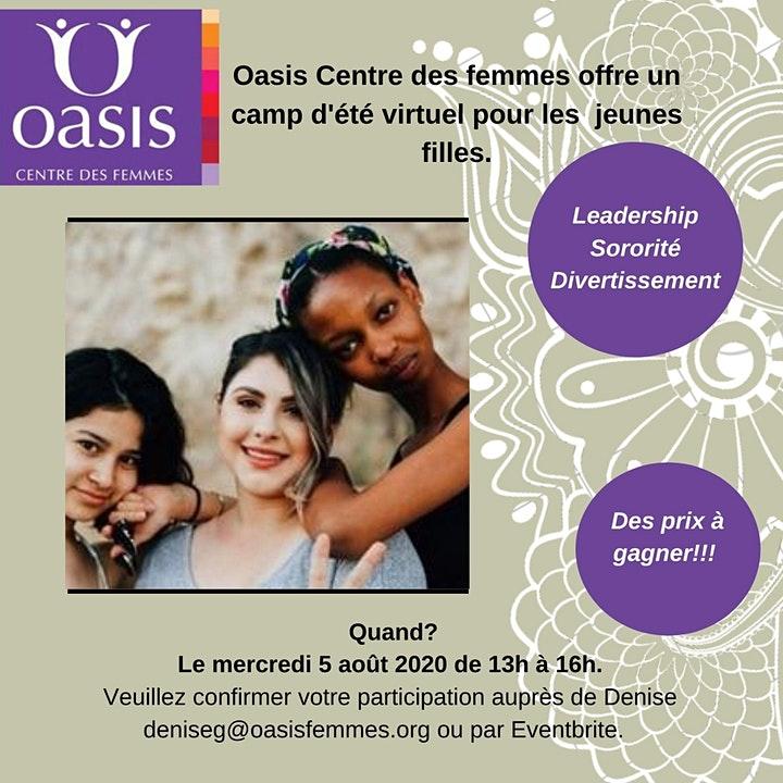 Poster camp d'été (virtuel) pour les filles