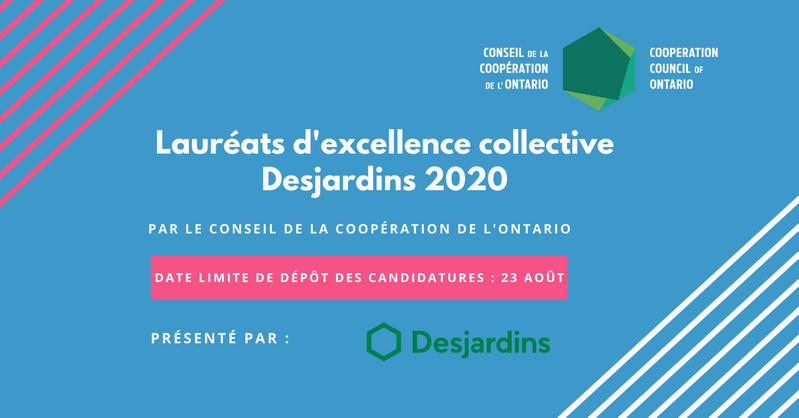 Poster Lauréats d'excellence collective Desjardins 2020