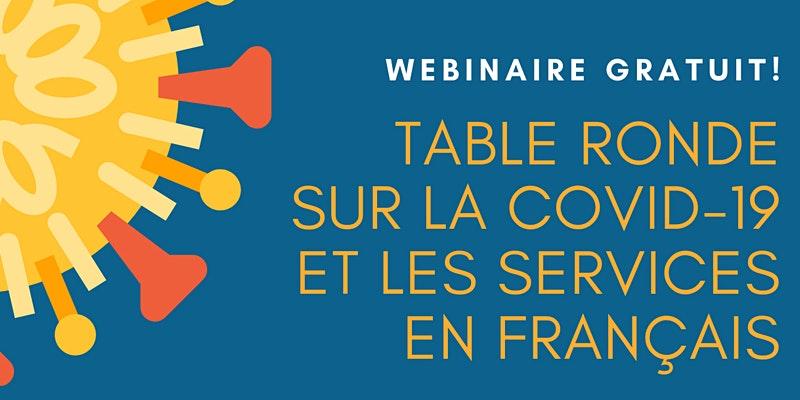 Affiche pour le table ronde sur la COVID-19 et les services en français