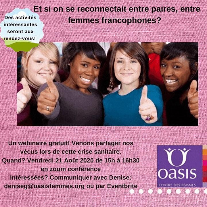 Affiche pour Et si on se reconnectait entre paires, entre femmes francophones?