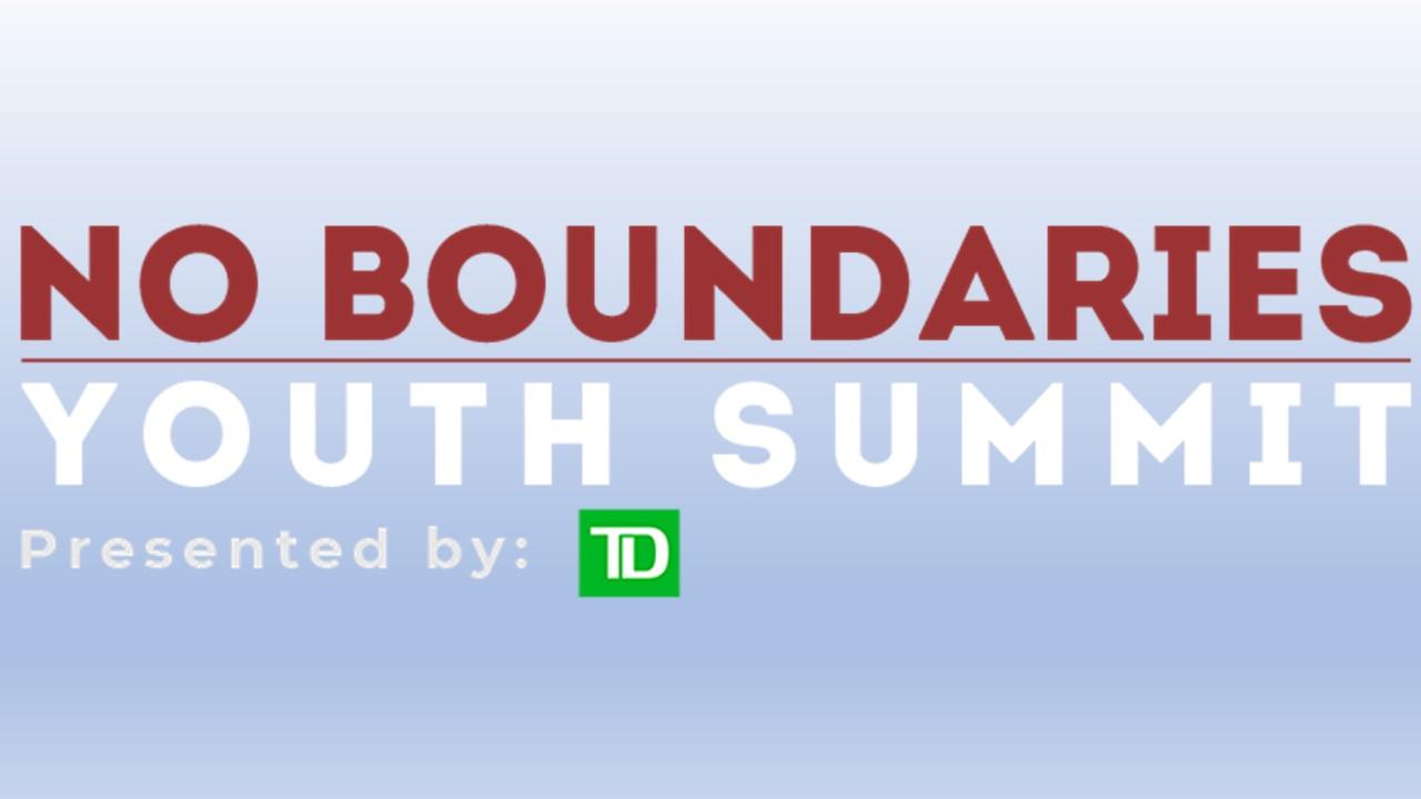 Affiche pour le 7e Sommet annuel des jeunes sans frontières