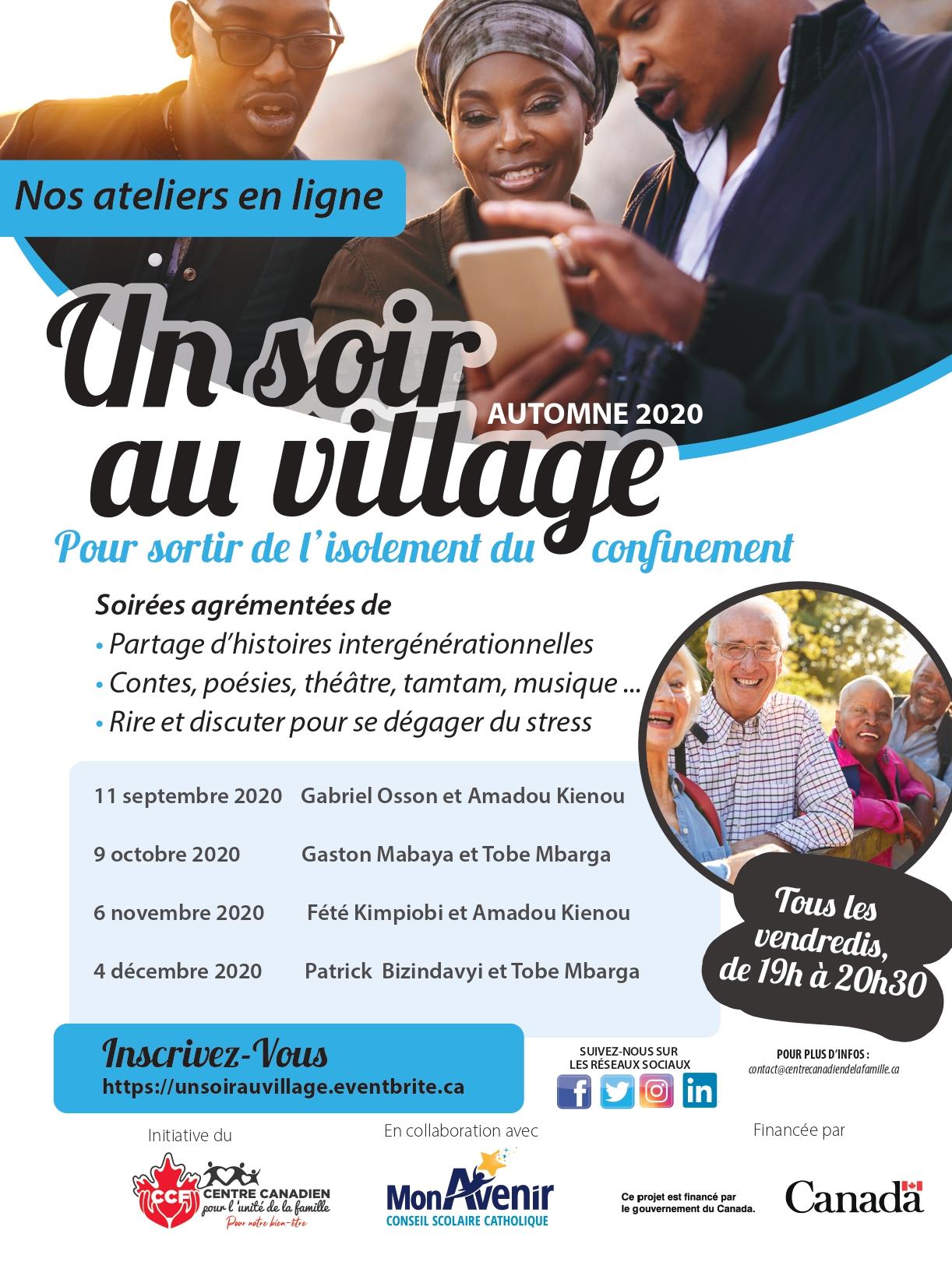 """Affiche pour l'événement """"Un soir au village"""""""