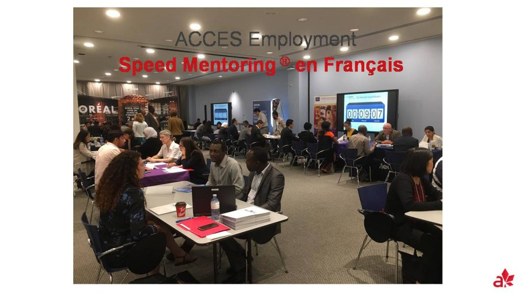 Speed Mentoring® en Français virtuel- sessions de novembre 2020
