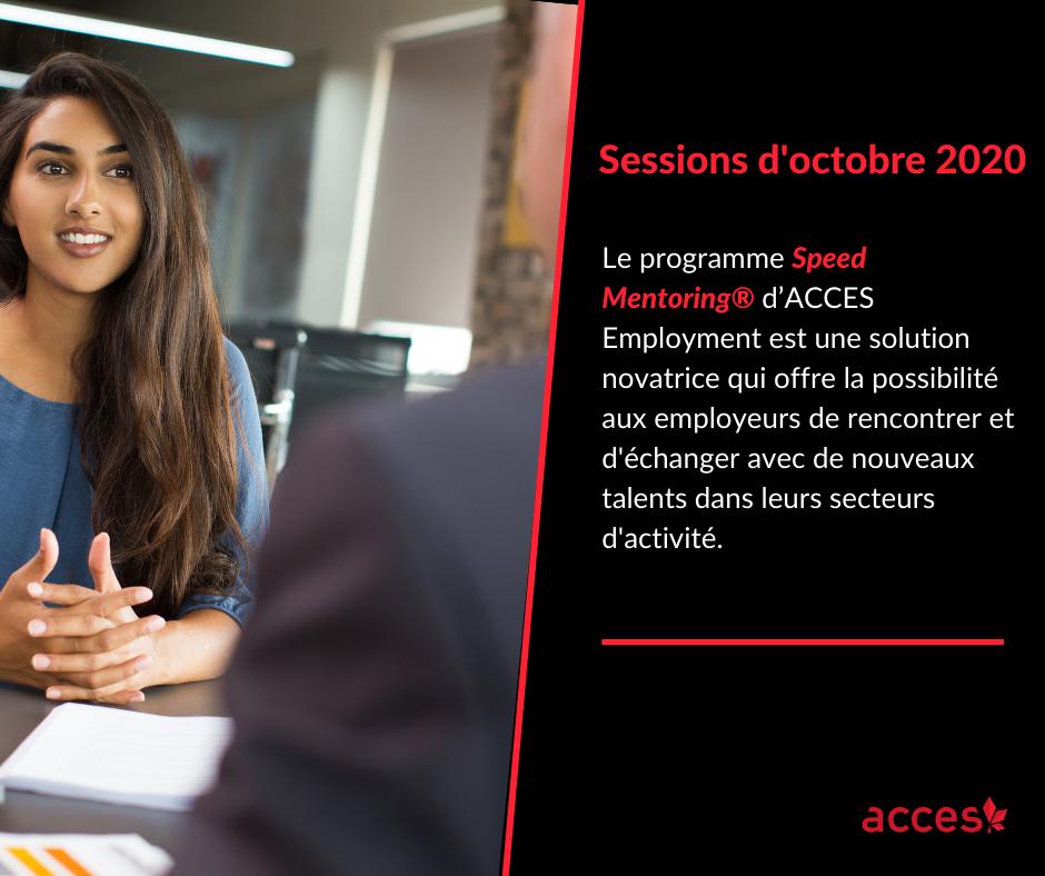 Speed Mentoring® en Français virtuel- sessions d'octobre 2020