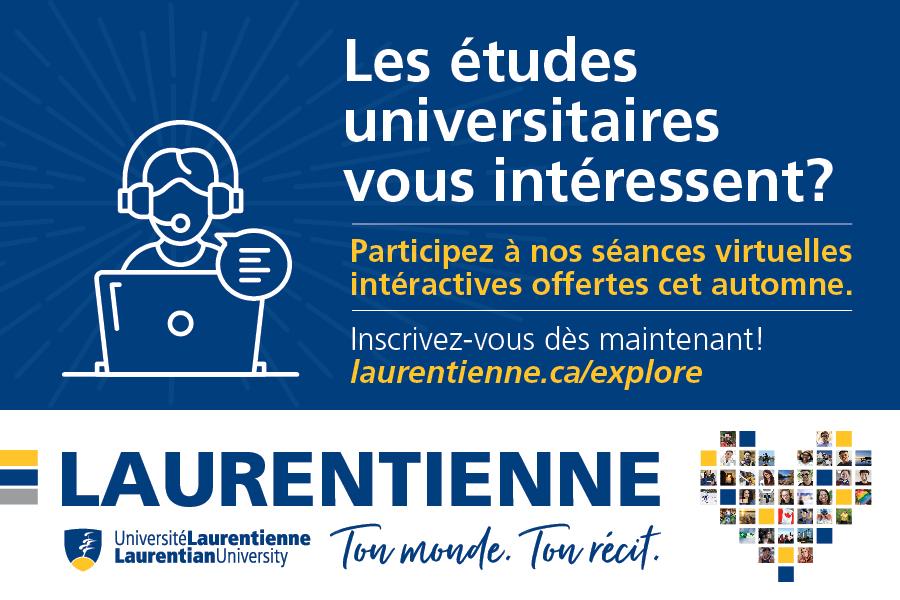 Planifiez votre parcours postsecondaire avec l'Université Laurentienne